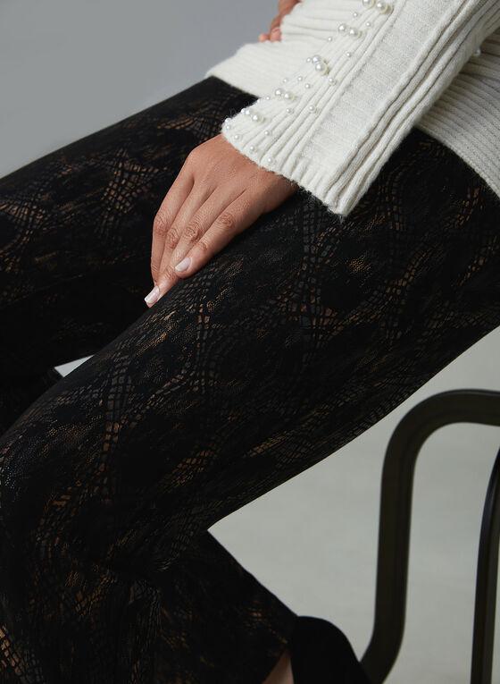 Insight – Abstract Print Straight Leg Pants, Black, hi-res