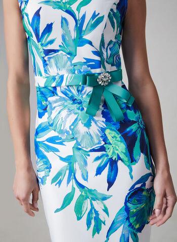 Joseph Ribkoff - Floral Print Dress, White, hi-res