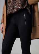 Slim Leg Pull-On Pants , Black