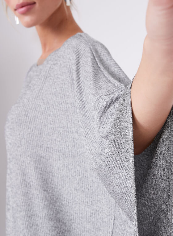 Tunique tricotée asymétrique, Gris, hi-res