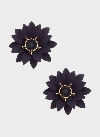 Floral Stud Earrings, , hi-res