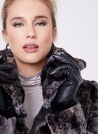 Faux Fur Reversible Coat, Black, hi-res