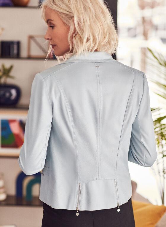 Vex - Veste aspect cuir à détails zips, Bleu