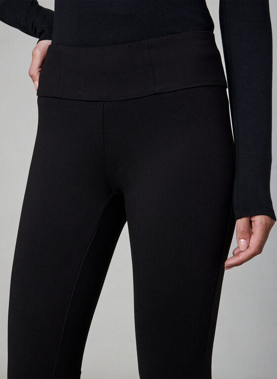 Kayla Mid-Rise Leggings, Black