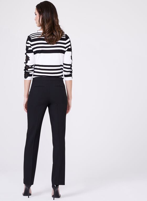 Lauren Pant Mid Rise Pants , Black, hi-res