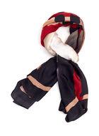 Oblong Paint Stroke Stripe Wrap , Black, hi-res