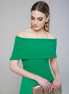Vince Camuto - Off-the-Shoulder Dress, Green, hi-res