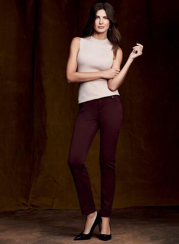 Super Soft Slim Leg Jeans, Red, hi-res