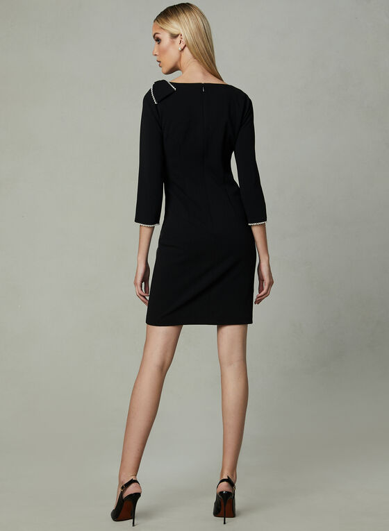 Karl Lagerfeld Paris - Pearl Trim Dress, Black, hi-res