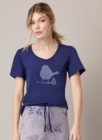 Ensemble pyjama à imprimé, Gris,  automne hiver 2020, pyjama, ensemble