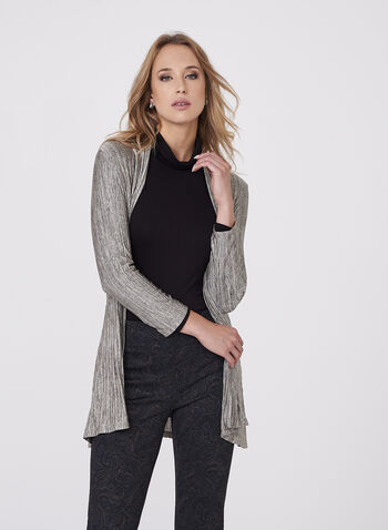 Frank Lyman - Metallic Pleated Cardigan, , hi-res