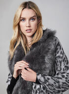 Animal Print Wrap, Grey
