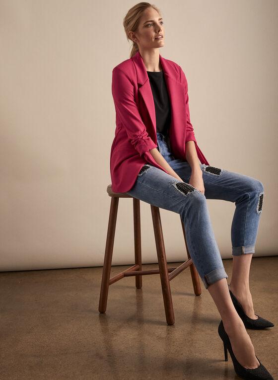 Joseph Ribkoff - Open Front Blazer, Pink