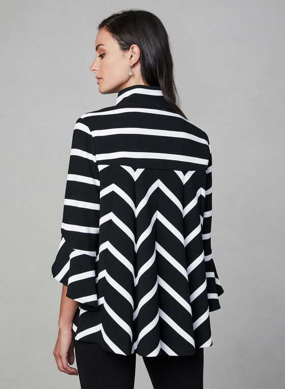 Frank Lyman - Stripe Print  Blazer, Black