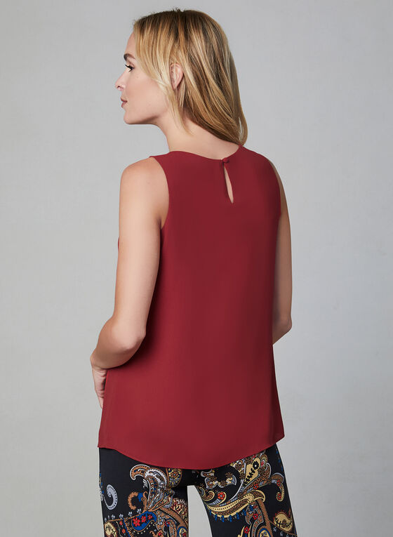 Sleeveless Blouse, Red