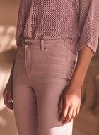 Jeans coloré à jambe étroite  , Violet