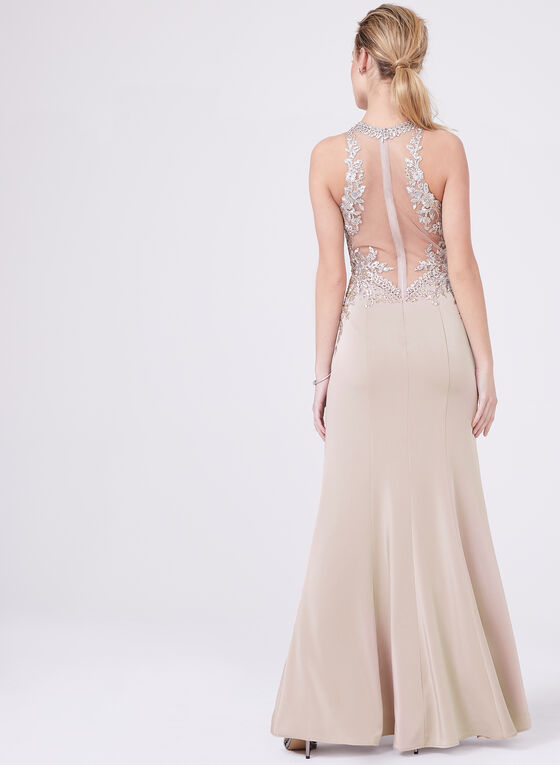 Cachet - Crystal Embellished Dress, Off White, hi-res