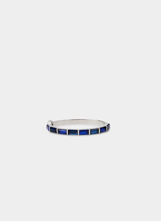 Bracelet à pierres rectangulaires, Bleu, hi-res