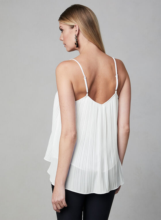 Elena Wang - Lace Detail Camisole, White, hi-res