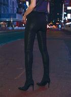 Legging Kayla à motif pied-de-poule, Noir