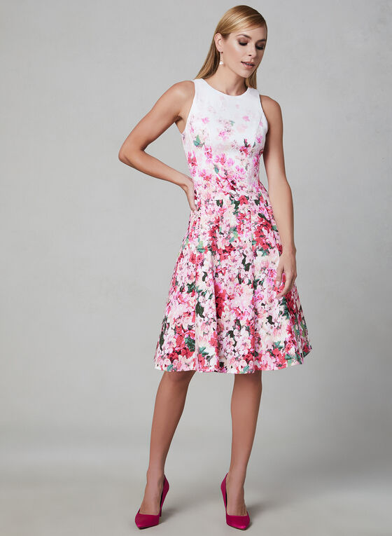 Maggy London - Cotton Fit & Flare Dress, White, hi-res