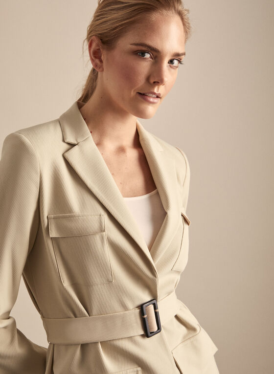 Vince Camuto - Belted Jacket, Brown
