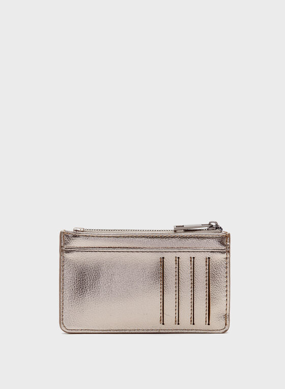 Credit Card Holder & Coin Purse, Grey, hi-res