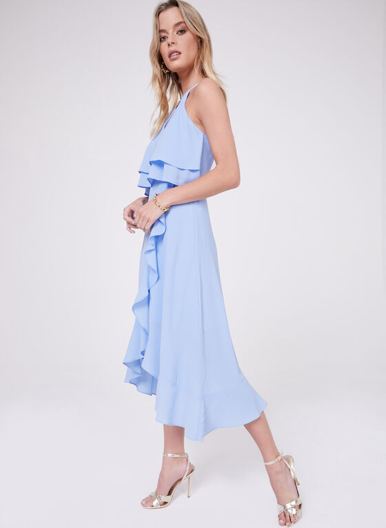 Kensie - Popover Crepe Dress, Blue, hi-res