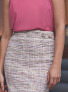 Tweed Pencil Skirt, White