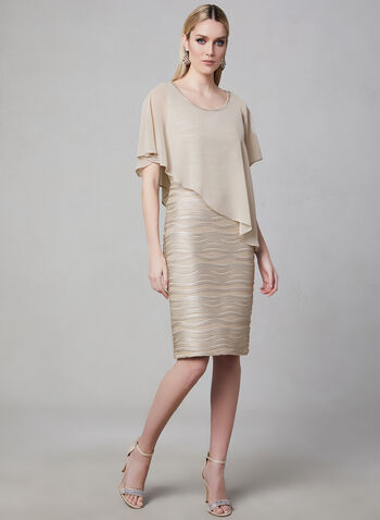 Frank Lyman - Poncho Dress, Brown, hi-res