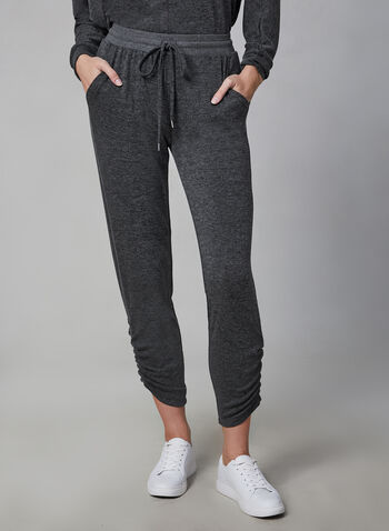 Vince Camuto - Jogging Pants, Grey,  Vince Camuto, pants, jogging pants, drawstring, elastic waist, fall 2019, winter 2019