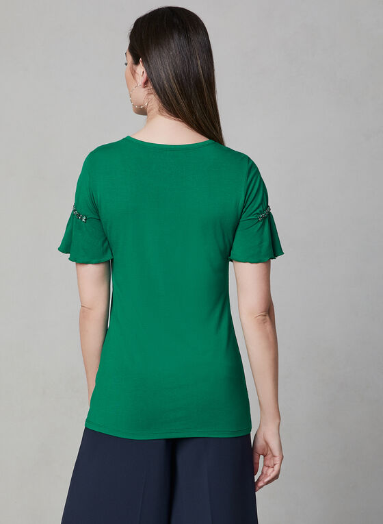 Crystal Embellished T-Shirt, Green