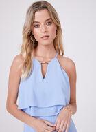 Kensie - Popover Crepe Dress, Blue, hi-res