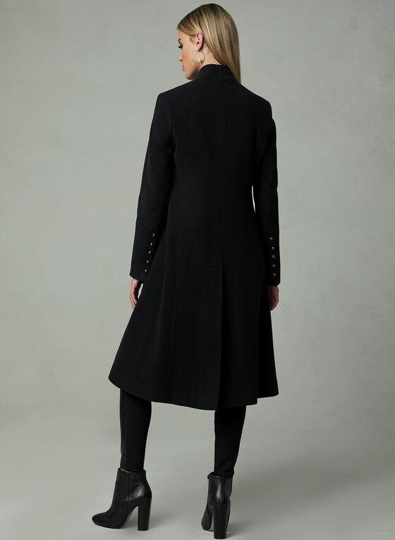 Mallia - Manteau long en cachemire mélangé, Noir