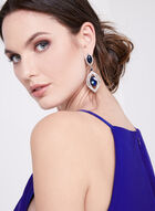 Marina - Cold Shoulder Ruffle Dress, Blue, hi-res