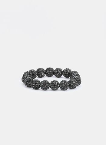 Fireball Stretch Bracelet , Grey,  bracelet, crystal, beads, fall winter 2019