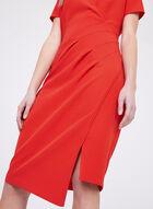 Cenia New York- Draped Sheath Dress, Red, hi-res