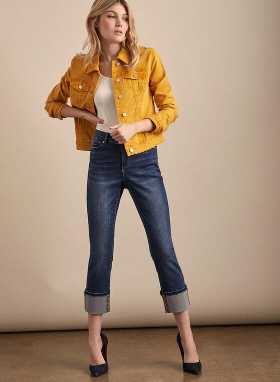 Veste en jean coloré, Jaune