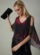 Frank Lyman - Cold Shoulder Poncho Dress, Black, hi-res