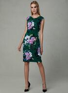 Vince Camuto - Floral Print Sheath Dress, Green, hi-res