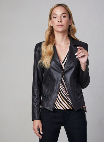 Vex - Faux Leather Jacket, Black, hi-res,  jacket, blazer, long sleeves, fall winter 2019, faux leather