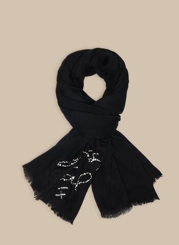 Karl Lagerfeld Paris - Signature Scarf, Black,  scarf, signature, viscose, Lagerfeld, spring summer 2020
