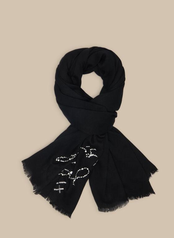 Karl Lagerfeld Paris - Écharpe siglée , Noir