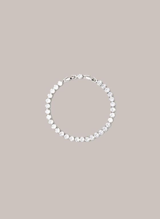 Bracelet tennis à pierres et cristaux, Argent