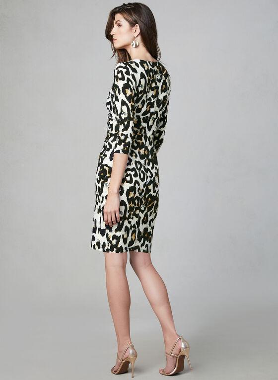 Frank Lyman - Robe fourreau à motif léopard, Brun, hi-res
