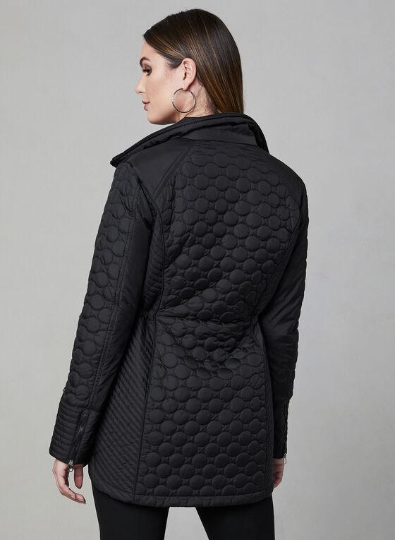 Chillax - Lightweight Quilted Coat, Black