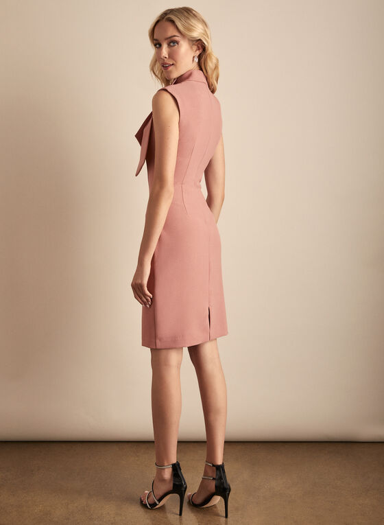 Harper Rose - Robe en crêpe à col fantaisie, Rose