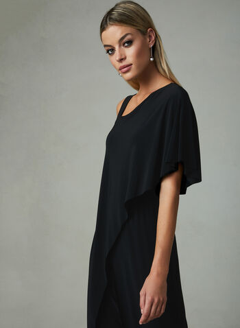 Joseph Ribkoff - One Shoulder Jumpsuit, Black, hi-res