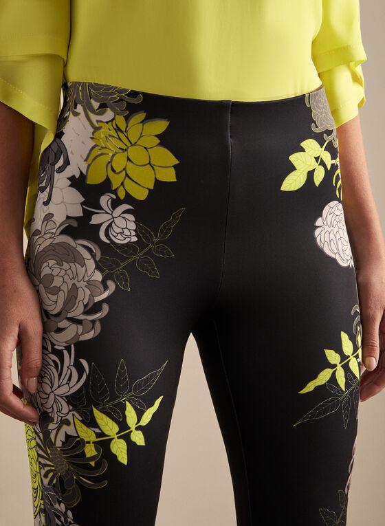 Joseph Ribkoff - Floral Motif Capri Pants, Black