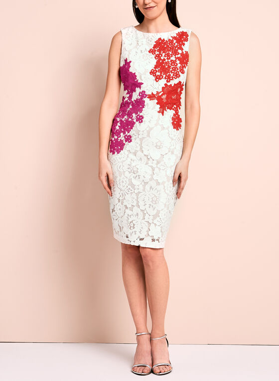 5281937a ... Jax Floral Lace Sheath Dress, Multi, hi-res ...